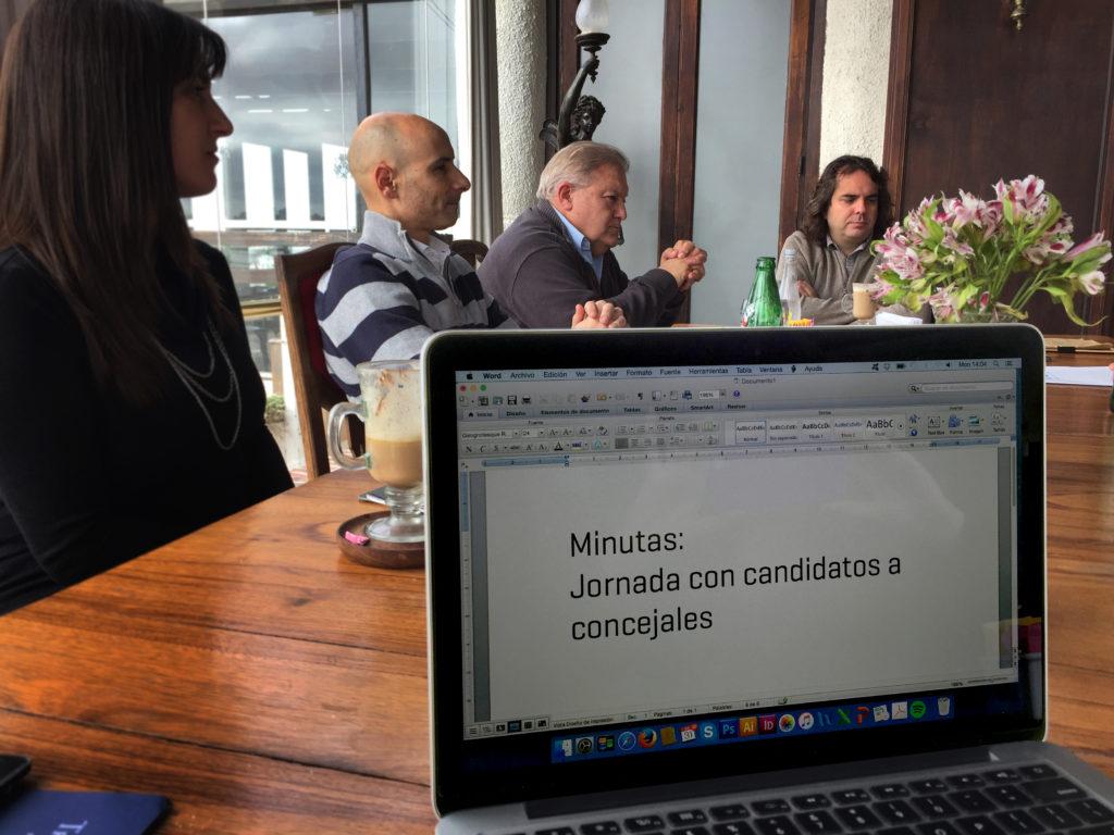 Minutas: Jornada con candidatos a concejales